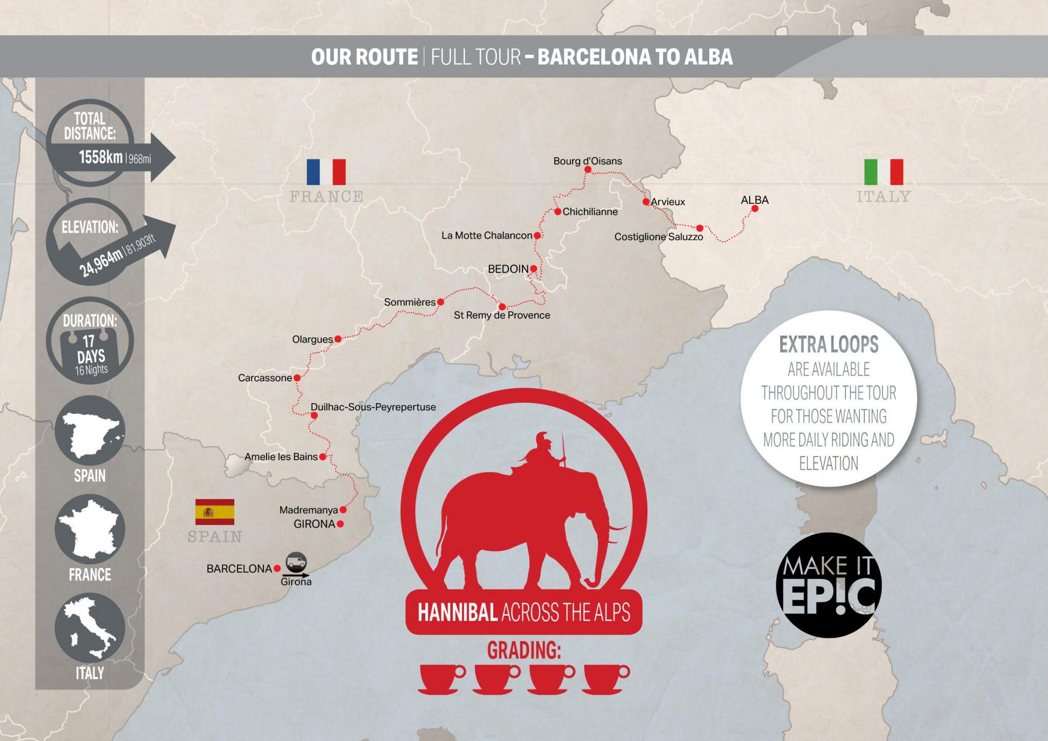 Hannibal bike tour map