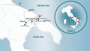 Puglia map