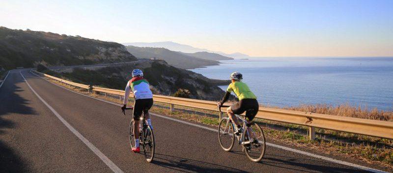 Cycling on the Sardinian coast