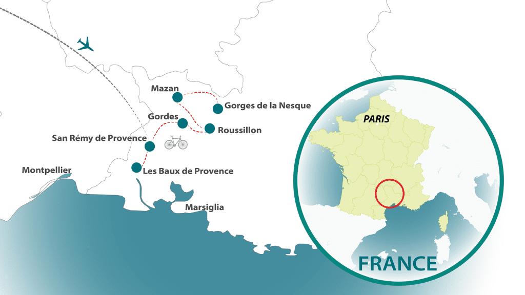 Provence tour map