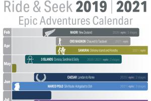Our Epic Adventures Tour Calendar 2019-21